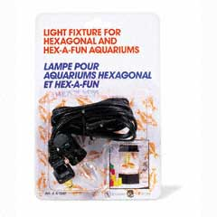 Hagen Light Fixture for Heagonal and Hex-a-Fun Aquariums