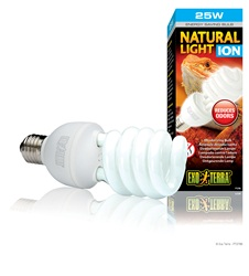 Exo-Terra Natural Light ION Deodorizing Compact Fluorescent Lamp, 25W