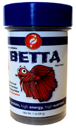 Pisces Betta 1mm Floating Pellet Food, 1.0 oz